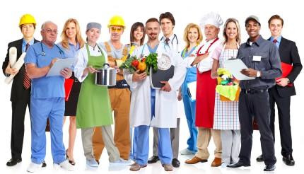 עובדים ממבחר מקצועות