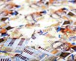 ערימות של שטרות כסף