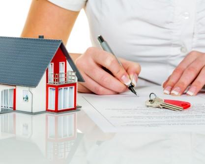 דגם של בית שחותמים עליו שיעבוד תמורת הלוואה