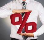 איש מחזיק סמל של אחוזים