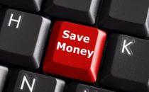 כפתור במקלדת של חסכון בכסף