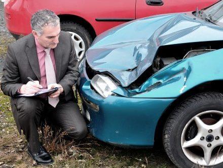 רכב מבוטח בביטוח מקיף שעבר תאונה