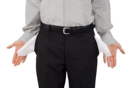 בחור במינוס ללא כסף בכיסים