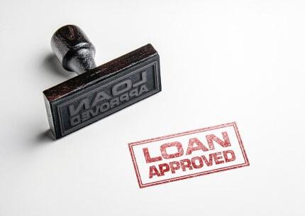 חותמת של אישור הלוואה ללא דמי פתיחת תיק