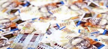 שטרות כסף לסימון תמהיל משכנתא של 400,000 ש