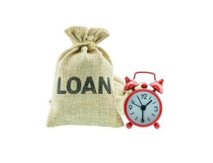 שק יוטה עם הכיתוב הלוואה