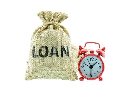 שק עם כיתוב הלוואה